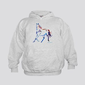Horse of Many Colors Kids Hoodie